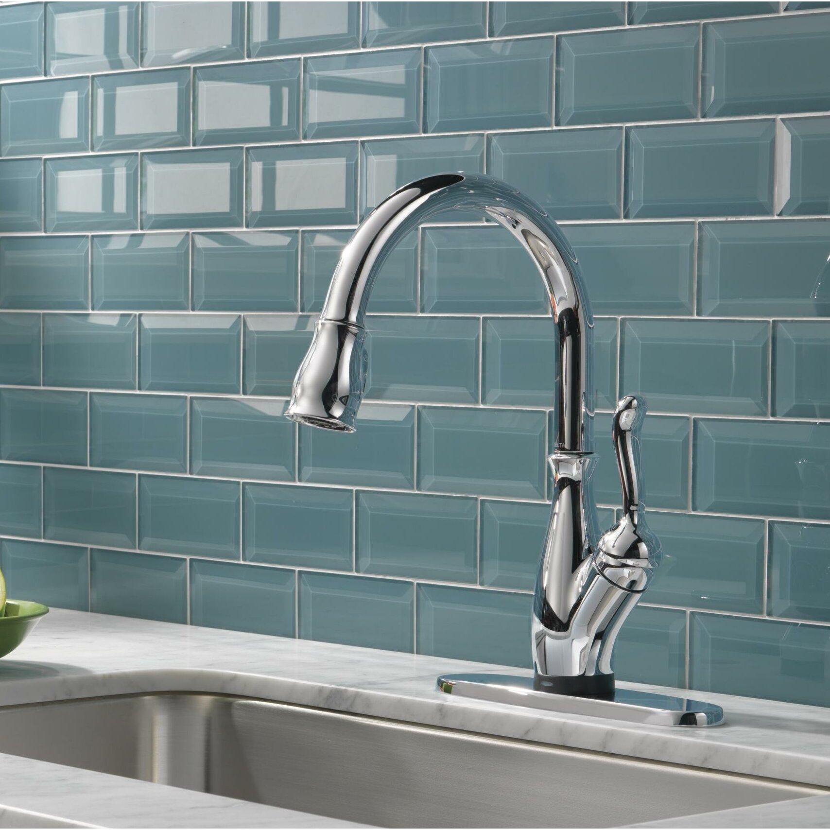 delta leland single handle standard kitchen faucet