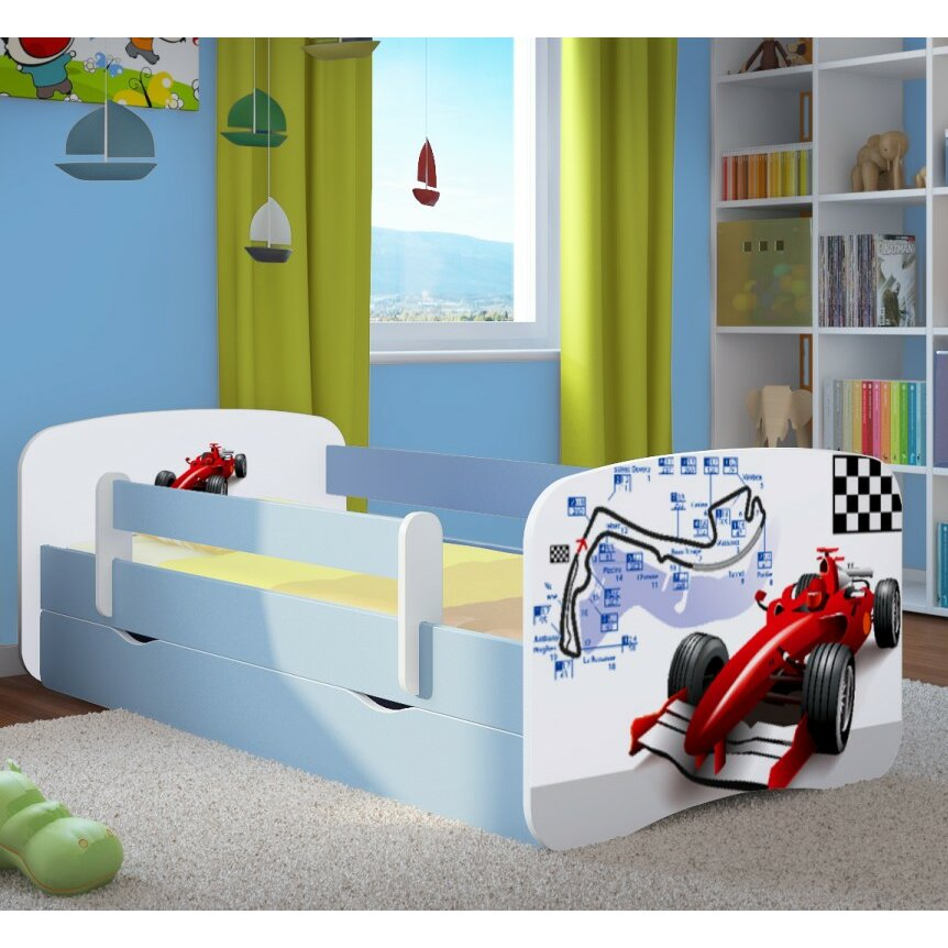 kocot kids kinderbett formula 1 mit matratze und schublade. Black Bedroom Furniture Sets. Home Design Ideas