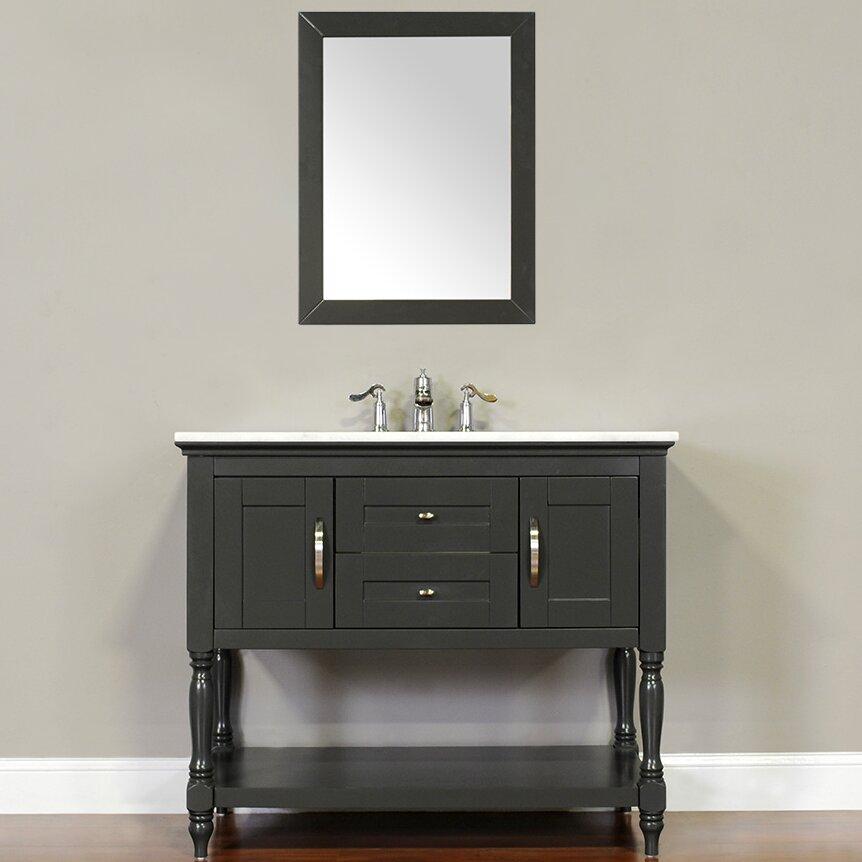 Alya bath hampton 42 single contemporary bathroom vanity - Contemporary bathroom vanity sets ...