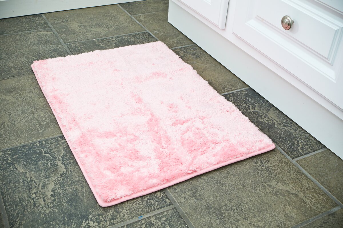 pink bath rugs & mats you'll love | wayfair