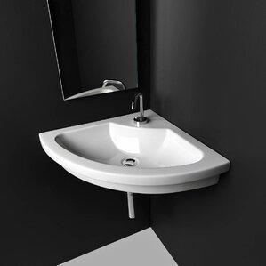 Kart Ceramic 22 Corner Bathroom Sink