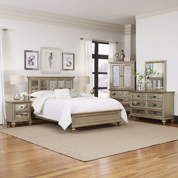 Home Styles Visions Panel 5 Piece Bedroom Set & Reviews | Wayfair