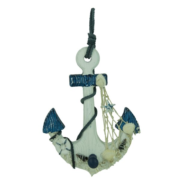 Wooden Anchor Wall Decor attractiondesignhome wooden nautical anchor hanging hook wall