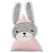 Rabbit Shaped Cotton Throw Pillow