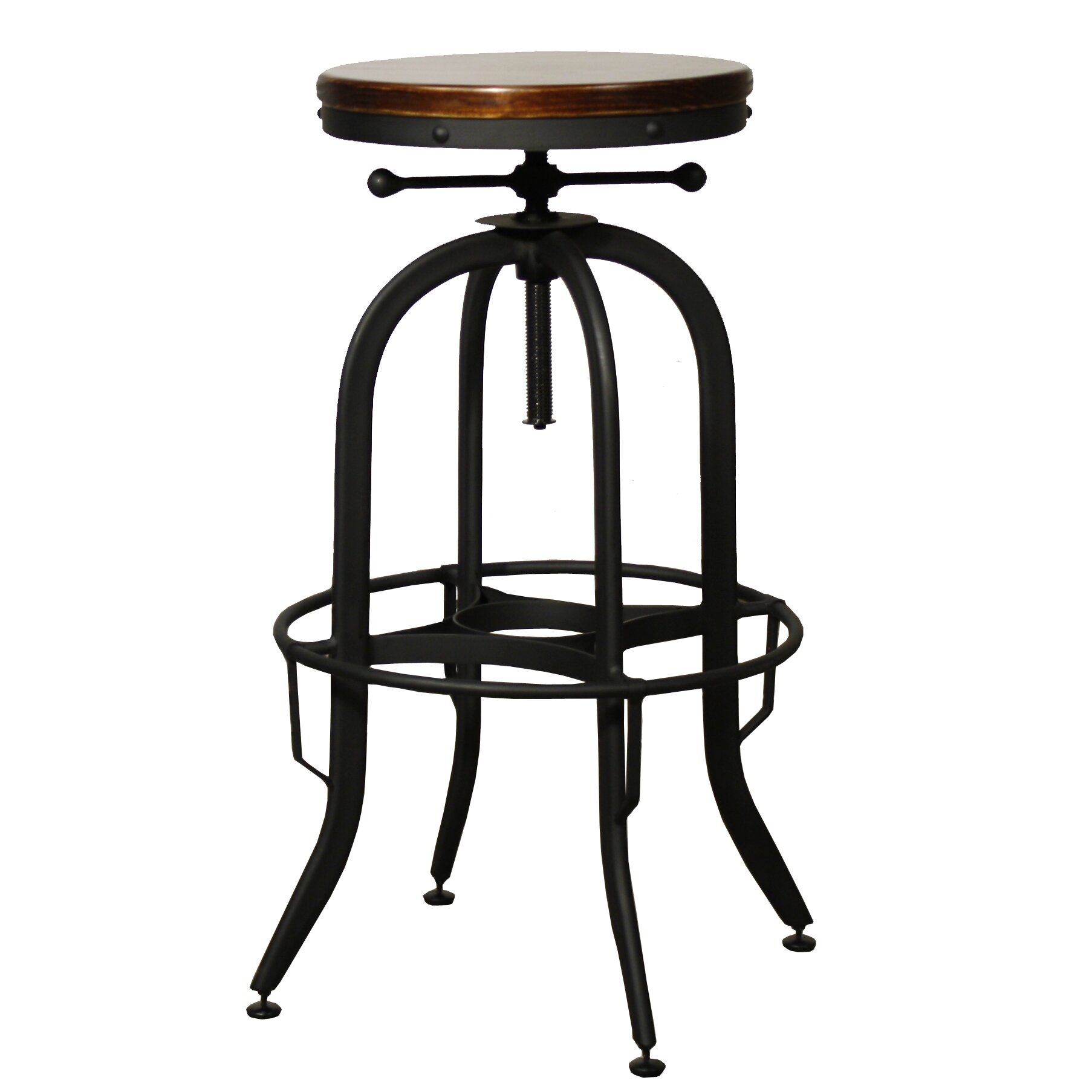 New Pacific Direct Industrial Adjustable Height Swivel Bar  : IndustrialAdjustableHeightSwivelBarStool from www.wayfair.com size 1806 x 1806 jpeg 115kB