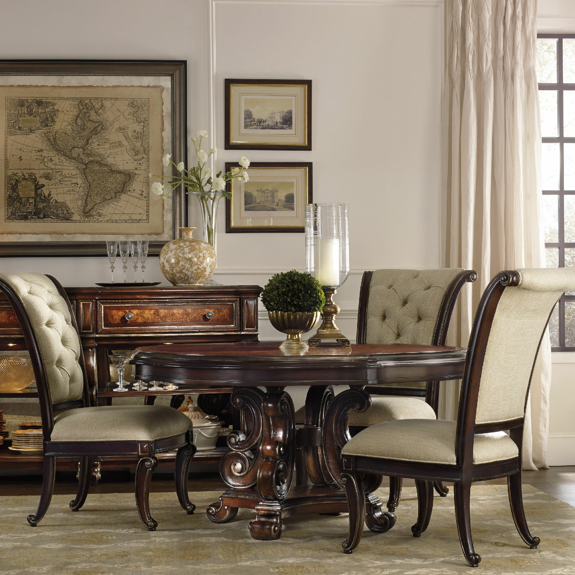 Hooker Furniture Grand Palais Dining Table Base | Wayfair