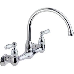 wall mounted kitchen faucet you'll love | wayfair