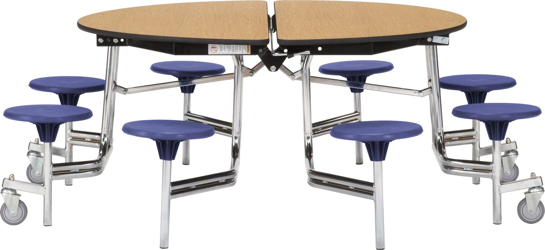 National Public Seating 81 Round Cafeteria Table Reviews Wayfair