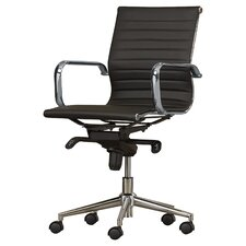 Contemporary Modern White Office Chair Midback Desk Inside Inspiration