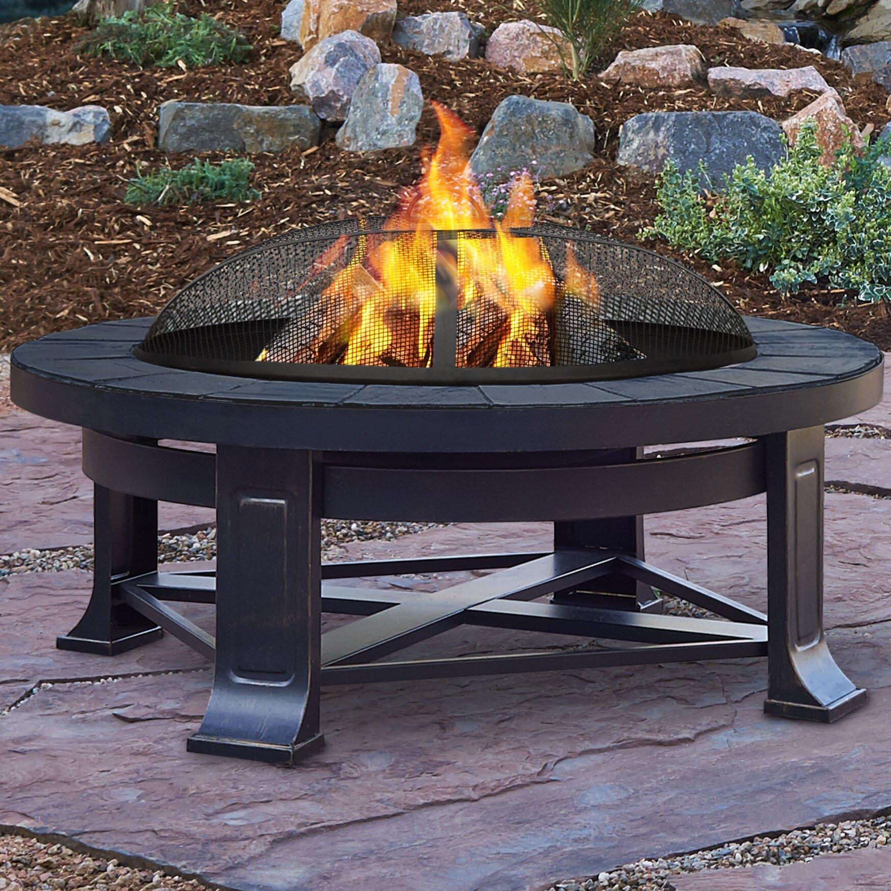 Real Flame Steel Wood Burning Fire pit & Reviews | Wayfair.ca