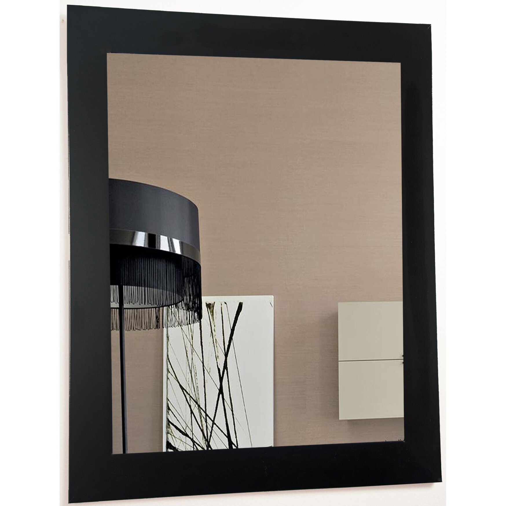 brayden studio black and white designer wall mirror reviews. Black Bedroom Furniture Sets. Home Design Ideas