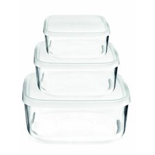 Backer Square 3 Container Food Storage Set