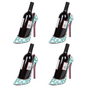 Caban High Heel Holder 1 Bottle Tabletop Wine Rack (Set of 4)