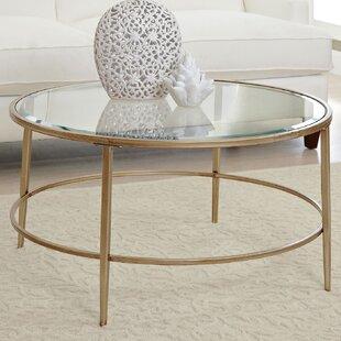 cf69b93b717f28 Glass Gold Coffee Tables You'll Love | Wayfair