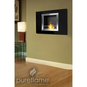 Calida Wall Mount Bio-Ethanol Fireplace by PureFlame