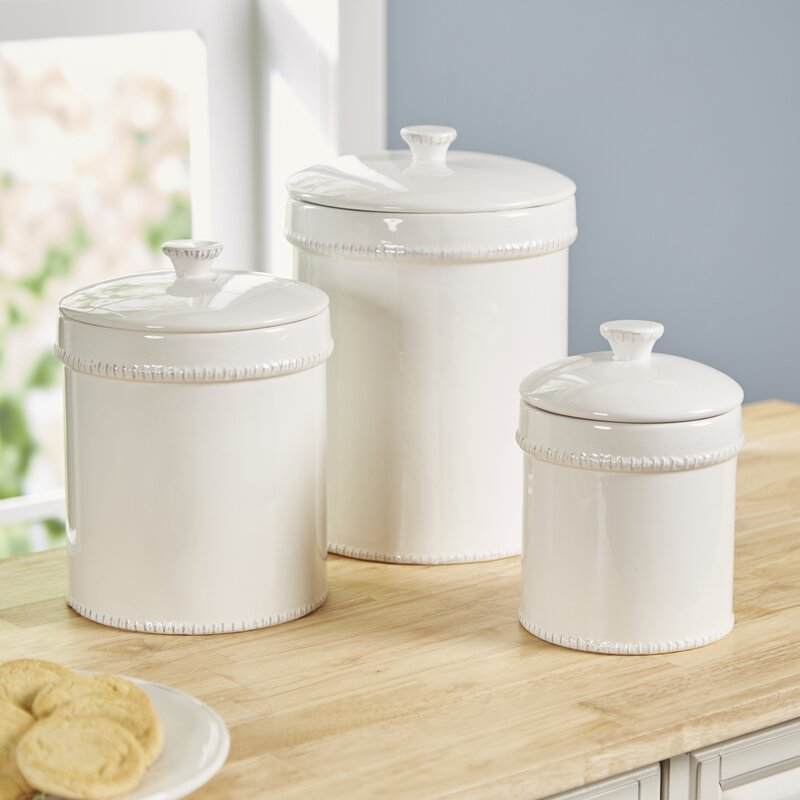 white kitchen canister birch farnol 3 kitchen canister set amp reviews 15438