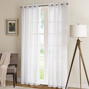 Saniveieri Solid Sheer Grommet Single Curtain Panel
