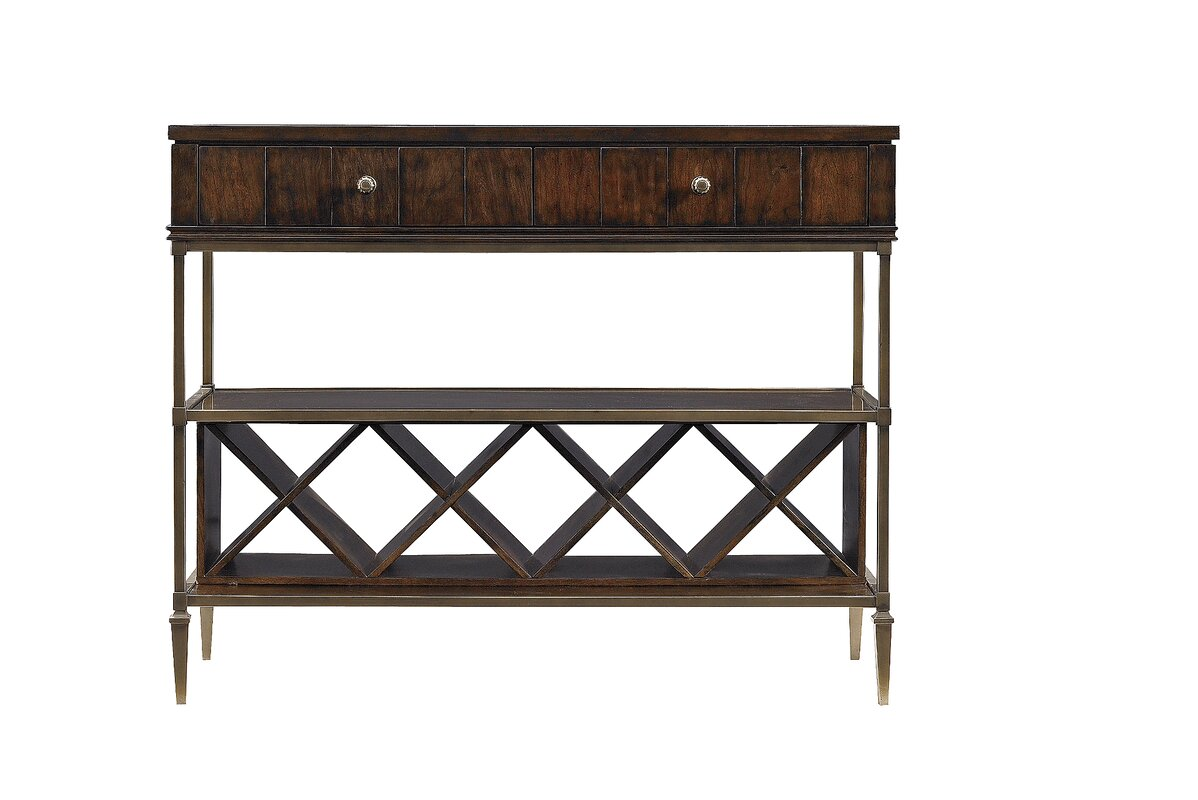 Stanley Avalon Heights Empire Serving Console Table