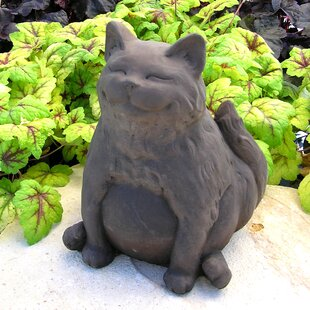cat garden statue. happy fat cat statue garden t