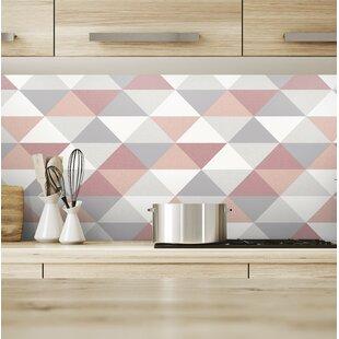 Azu Mod Triangles 18 L X 20 5 W And Stick Wallpaper Roll