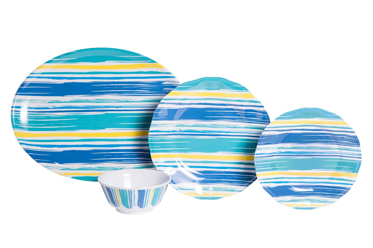 Whitson By The Sea Melamine 13 Piece Dinnerware Set Service for 4  sc 1 st  Wayfair & Rosecliff Heights Whitson By The Sea Melamine 13 Piece Dinnerware ...