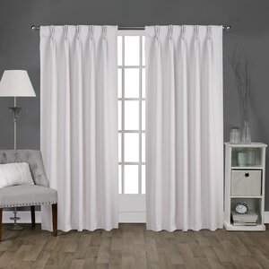 Claudio Solid Blackout Thermal Back Tab Curtain Panels (Set of 2)
