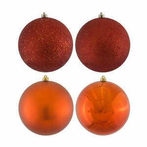 Assorted 4 Finish Ball Ornament (Set of 24)