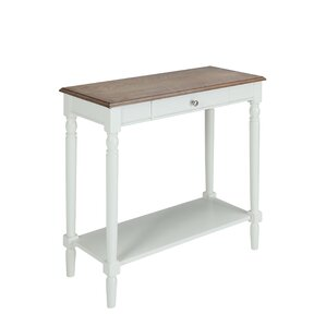 callery wood console table