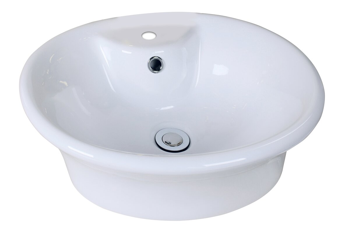 American imaginations ceramic oval vessel bathroom sink for Are vessel sinks out of style