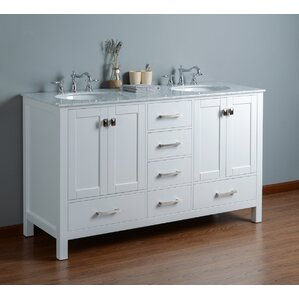 vanity bathroom double sink. Ankney 60  Double Bathroom Vanity Set Vanities You ll Love Wayfair