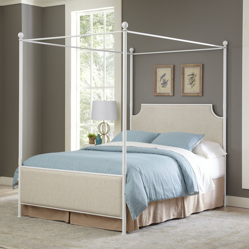 Canapy Beds williston upholstered canopy bed & reviews | birch lane