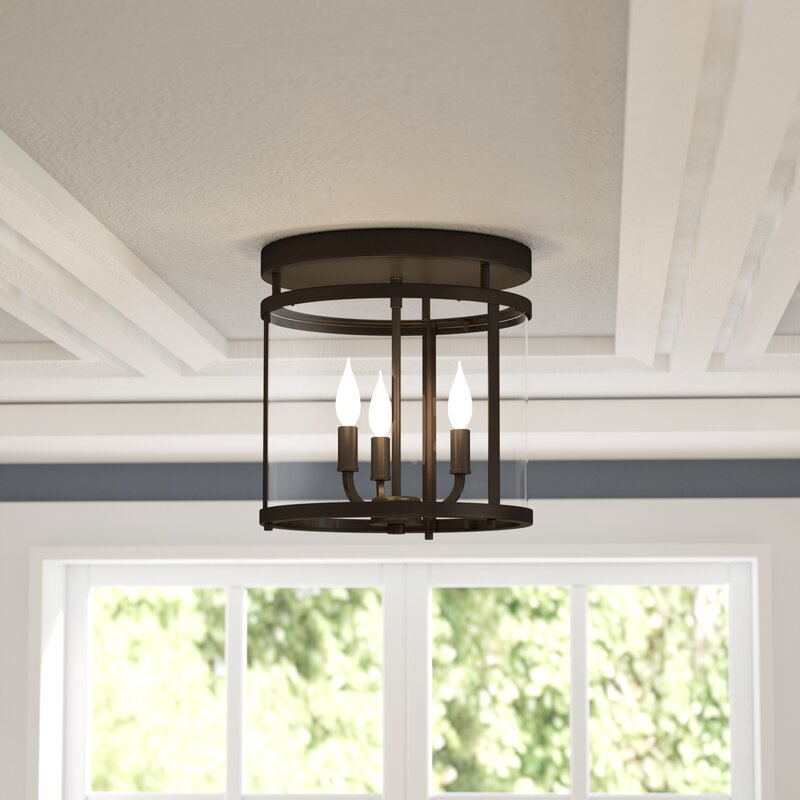 Alcott Hill Aldergrove 3-Light Flush Mount & Reviews | Wayfair