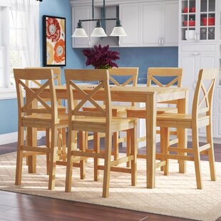 Smyrna 7 Piece Counter Height Pub Table Set Best