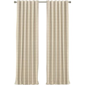 Striped Max Blackout Rod Pocket Single Curtain Panel