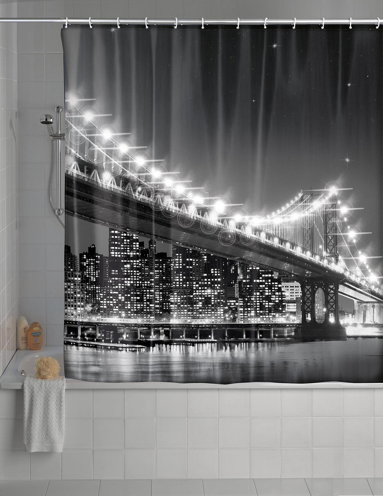 Wenko Inc Brooklyn Bridge LED Shower Curtain Reviews