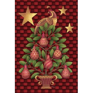 Partridge In A Pear Tree Garden Fla 2-Sided Garden flag