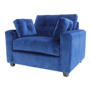 Yelton Navy Armchair