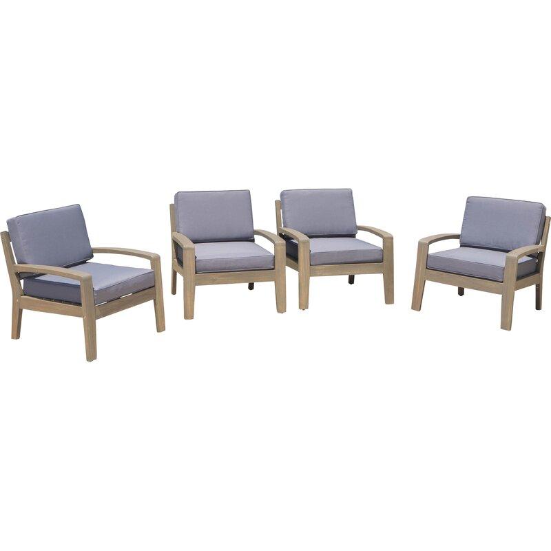 Gaia Wood Frame Armchair With Cushions Reviews Joss Main
