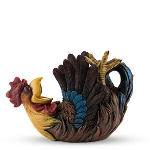 Polyresin Rowdy Rooster Tabletop Wine Bottle Rack