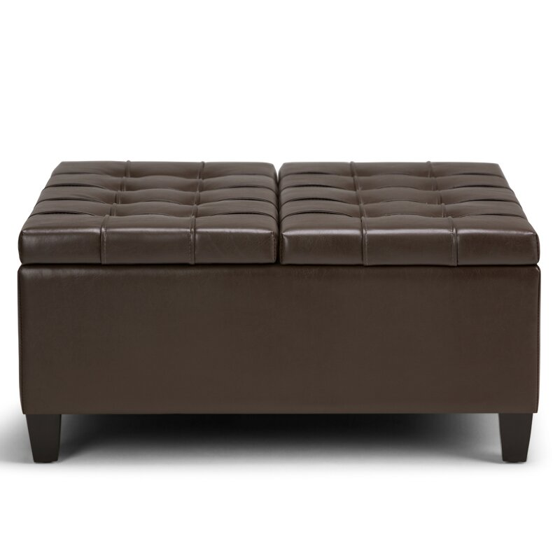 Simpli Home Harrison Coffee Table Storage Ottoman Reviews Wayfair