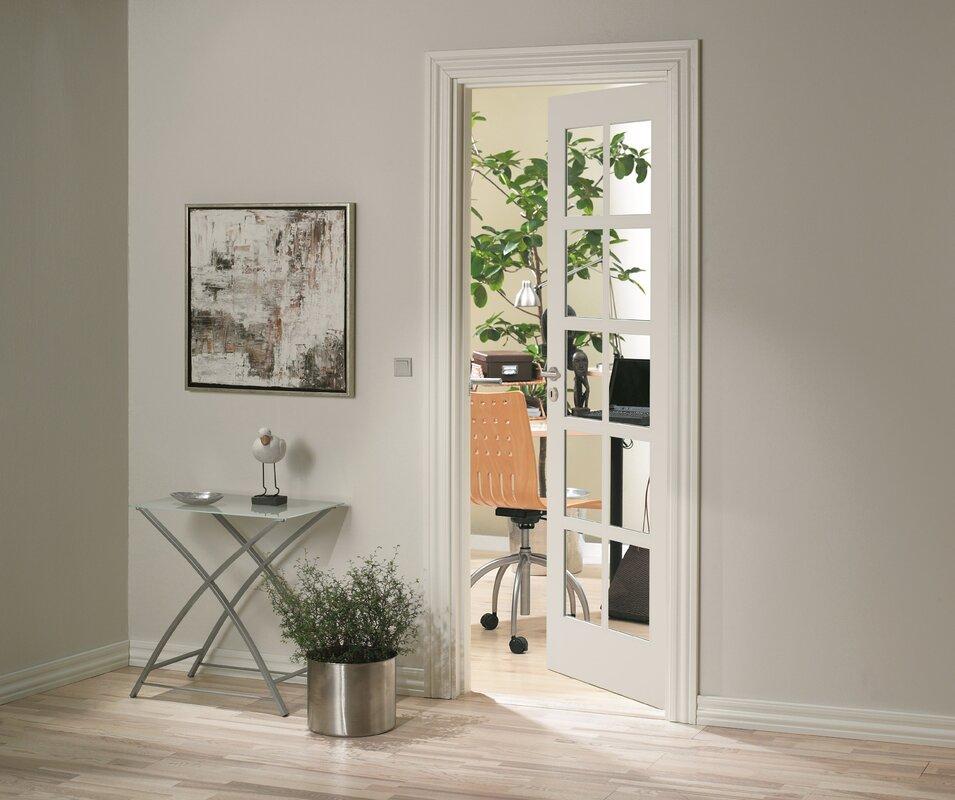 Jeld Wen Shaker Solid Mdf Glazed Slab Internal Door