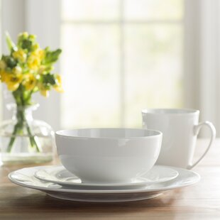 Wayfair Basics 16 Piece Porcelain Dinnerware Set Service for 4 & Porcelain Dinnerware Sets