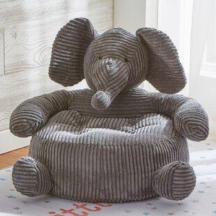 Tag Elephant Plush Kids Chair