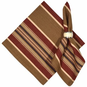 Bunkhouse 100% Cotton Striped Napkins (Set of 6)
