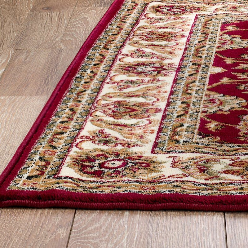 Moran Brown Burgundy Area Rug Amp Reviews Birch Lane