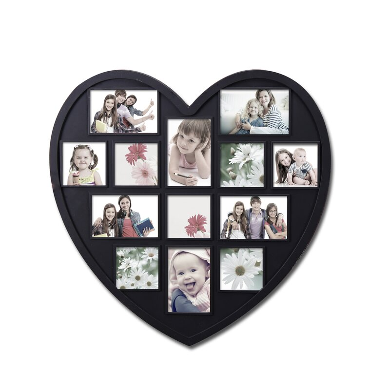 Adecotrading 13 Opening Decorative Heart Shaped Wall Hanging