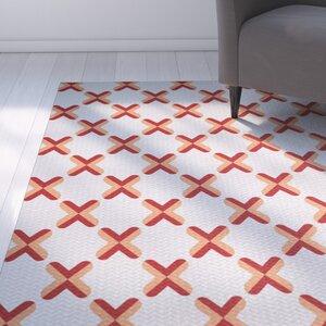Abbie Orange Indoor/Outdoor Area Rug