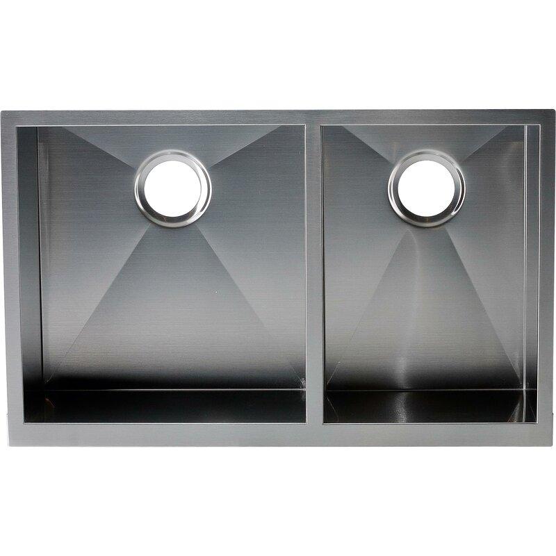 hardy 22   x 33   double bowl kitchen sink y decor hardy 22   x 33   double bowl kitchen sink  u0026 reviews   wayfair  rh   wayfair com