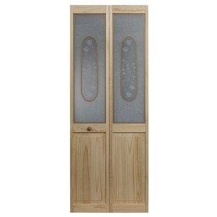 Solid Wood Glass Bi Fold Doors