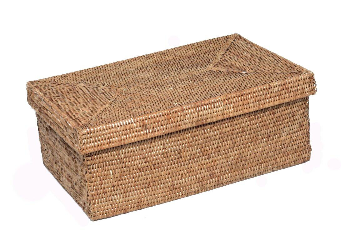 Artifacts trading rattan rectangular box with lid wayfair